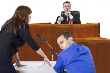 Bribe in courtroom