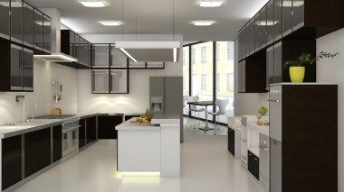 Interior of backroom kitchen