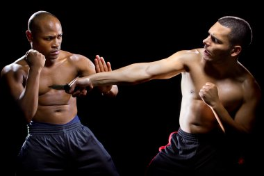 Fight instructor demonstrating self defense