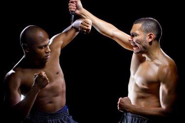 fight instructor demonstrating self defense
