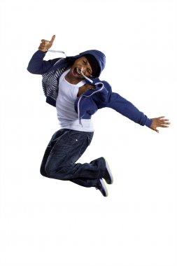 break dancer jumping