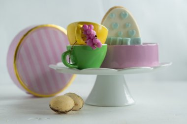 Easter cake - mazurek and easter candies