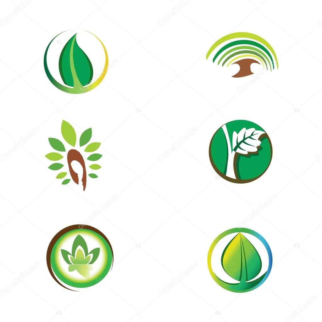 Logos - Green ecological system