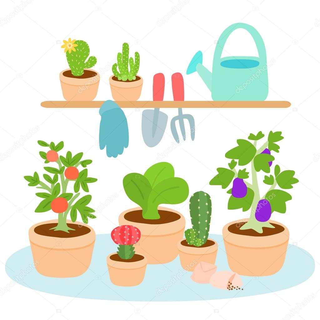 Cute and colorful gardening tool vector