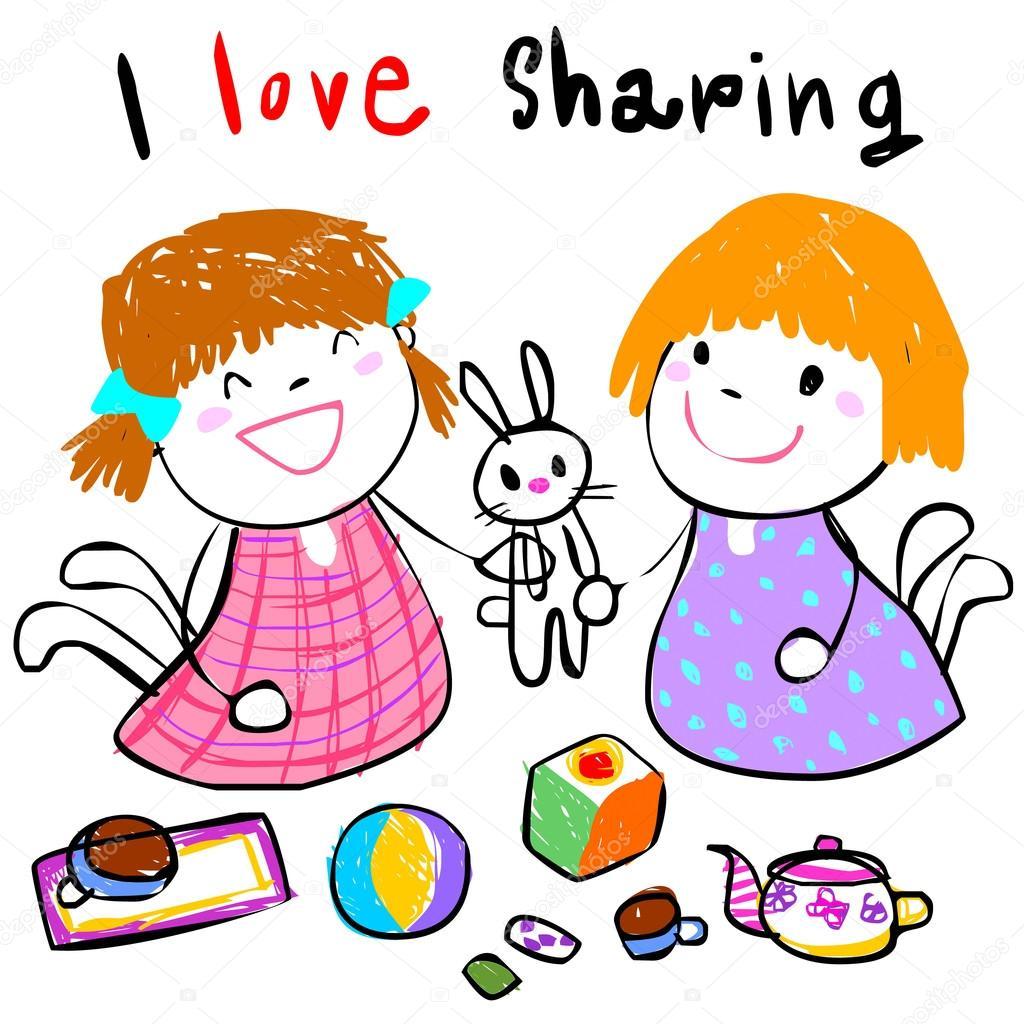 De ImágenesDibujo Niños Niños Compartiendo ImágenesDibujo JuguetesAmor De Compartiendo HeWED2YbI9