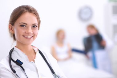 Woman doctor standingat hospital