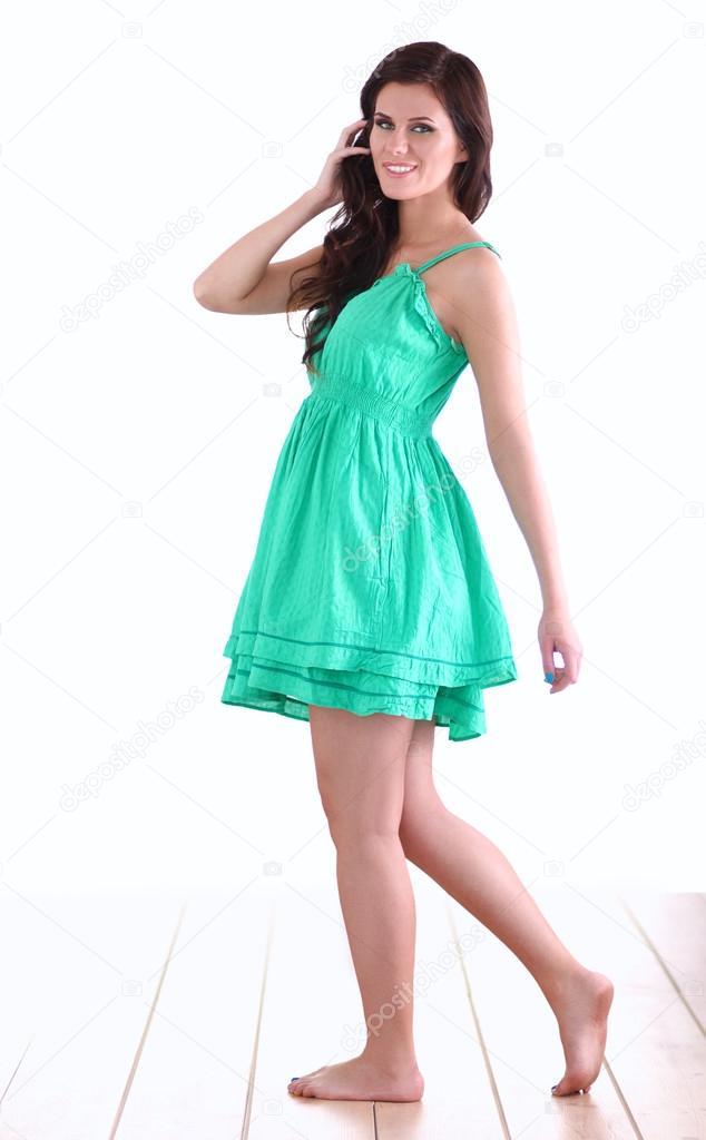 811c3db9ff8 Mannequin habillée d une robe verte– images de stock libres de droits