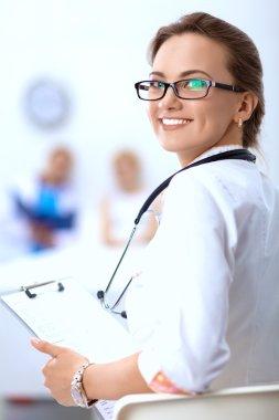 Woman doctor standingat hospital