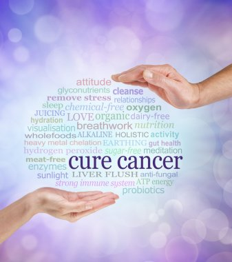 Words associated with holistic cancer cures