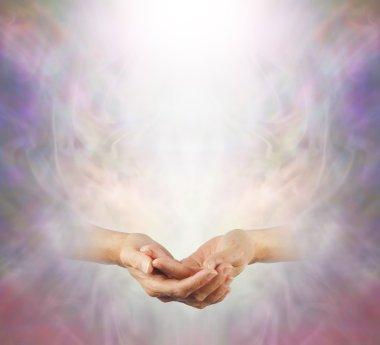 Hands held in Peaceful Meditation