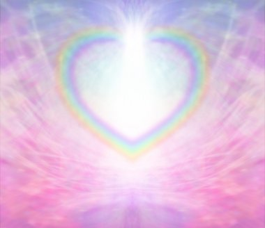 Rainbow Heart Background