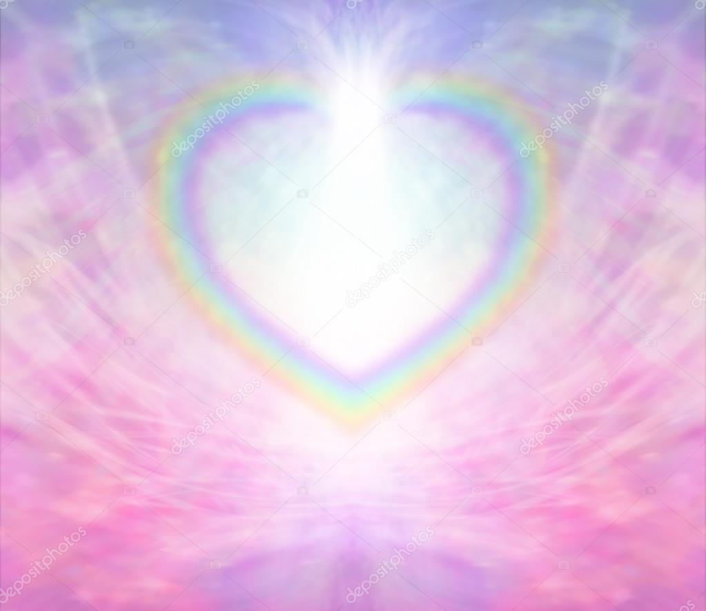 Download Wallpaper Rainbow Heart JPG