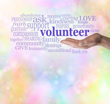 Please volunteer bokeh background