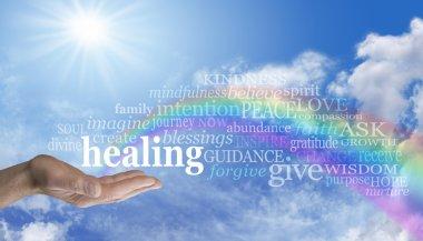 Healing Rainbow Sky Word Cloud