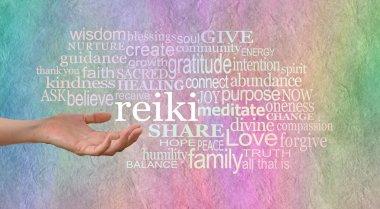 Sending Reiki Healing Word Cloud