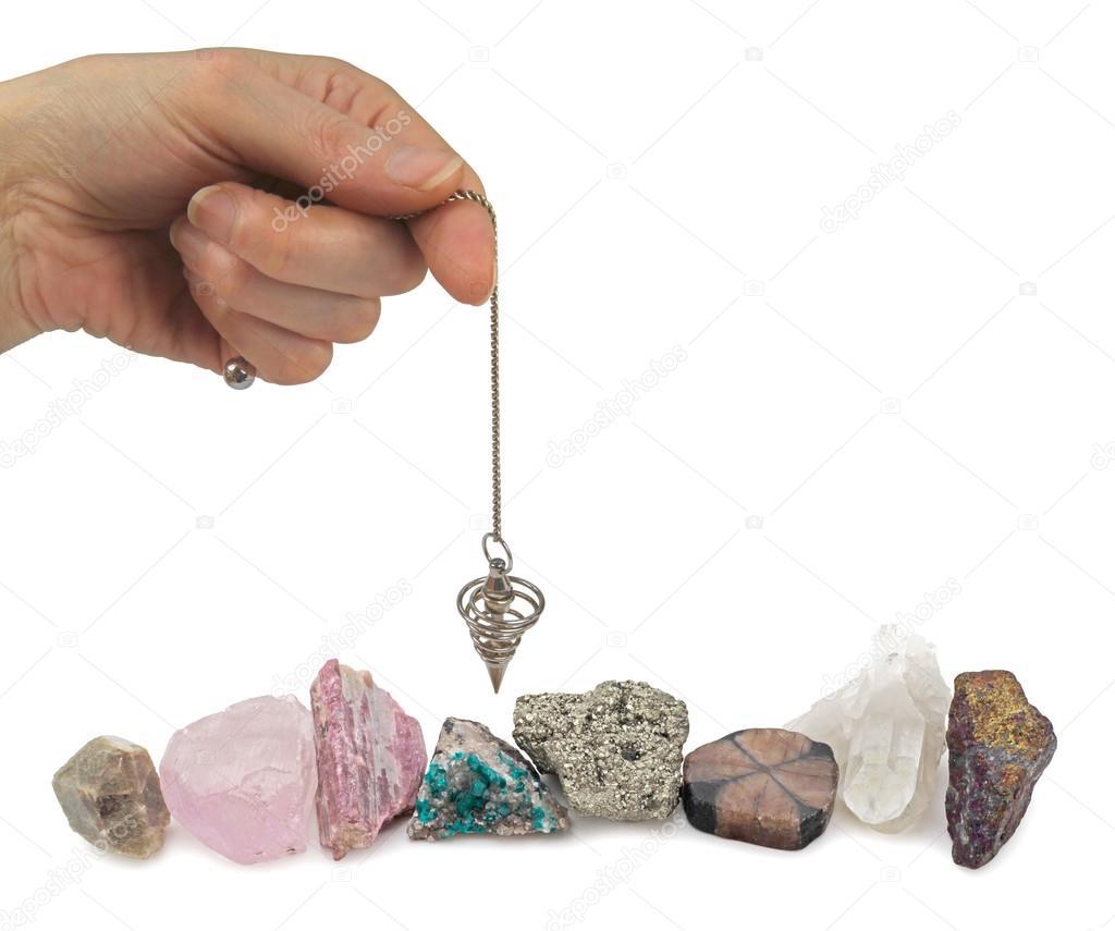 Dowsing mineral specimens