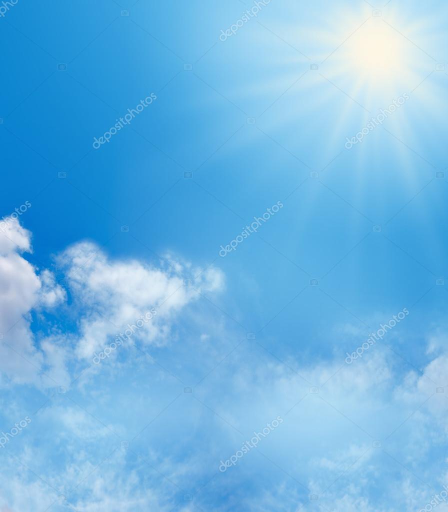 Blue Sky and Sunshine Background