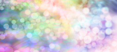 Multicolored rainbow bokeh background