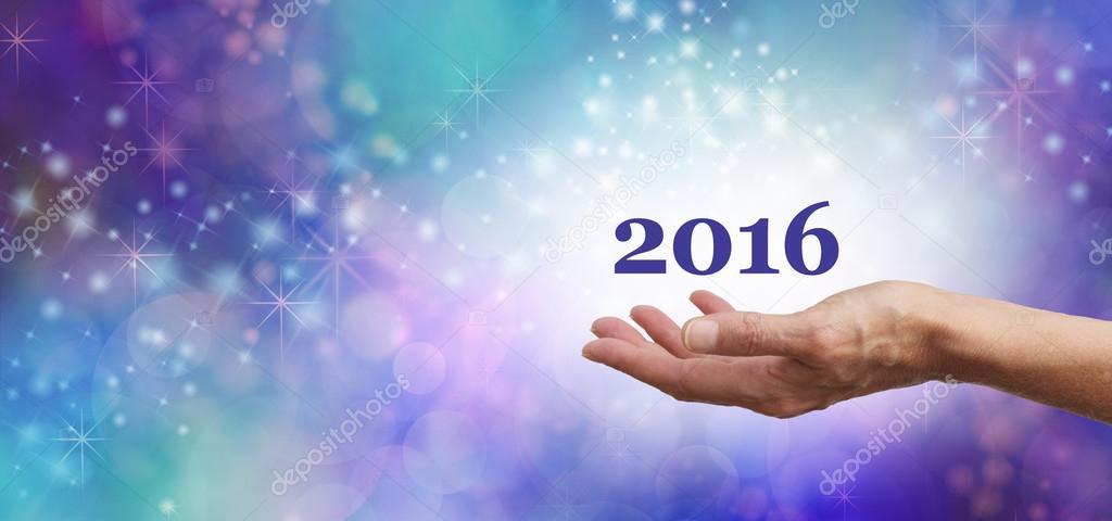 b420b6993e1 Bem-vindo 2016 celebração Banner — Stock Photo © Healing63  75030259