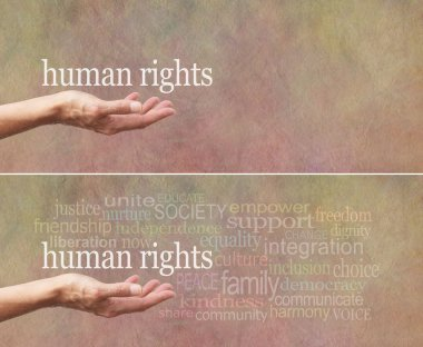 Human Rights is in Our Hands campaign banner
