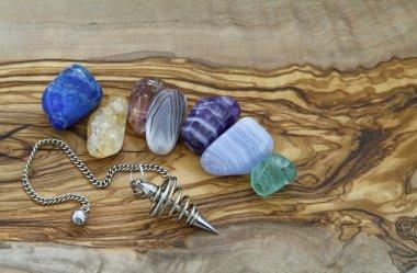 Healing Crystals and Dowsing Pendant