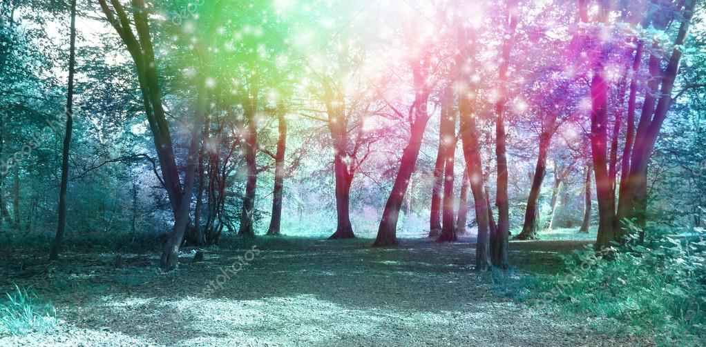 Magical Spiritual Woodland Energy Background
