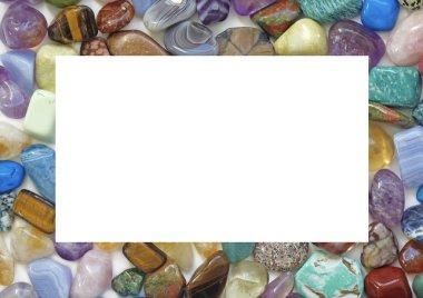 Healing Crystal Gemstone Filled Border