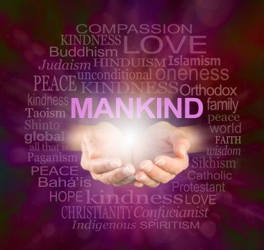Mankind World Religions Word cloud