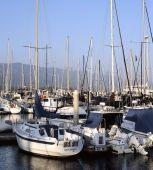Fotografie Santa Barbara Hafen bei Sonnenuntergang