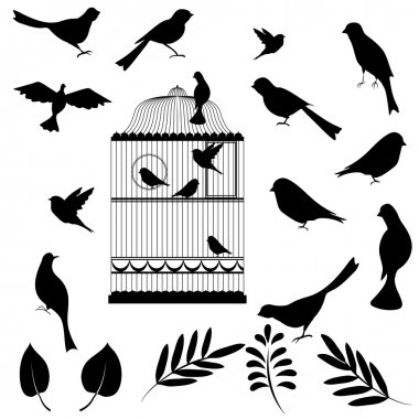 Vector illustration, of bird cage