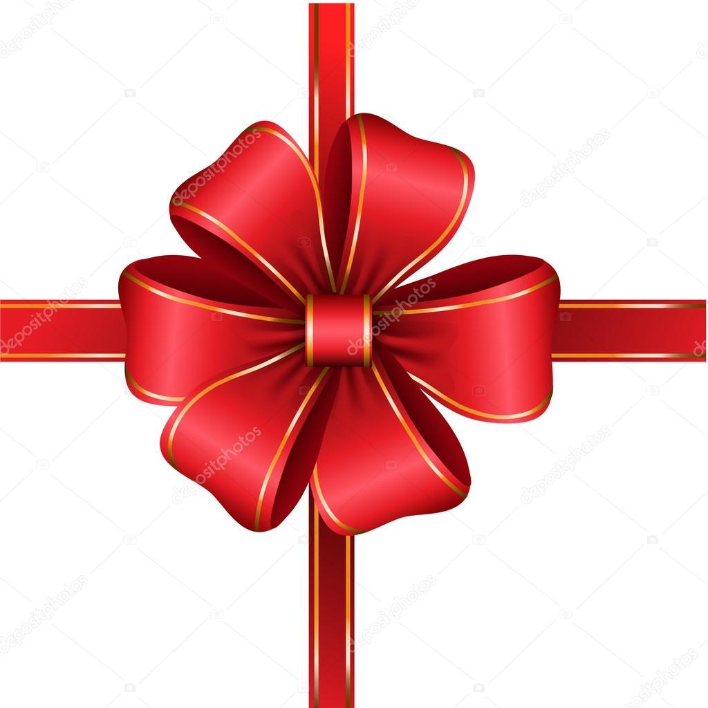 Fiocco Rosso Regalo Con Nastro Vettoriali Stock Bastinda18 92727532