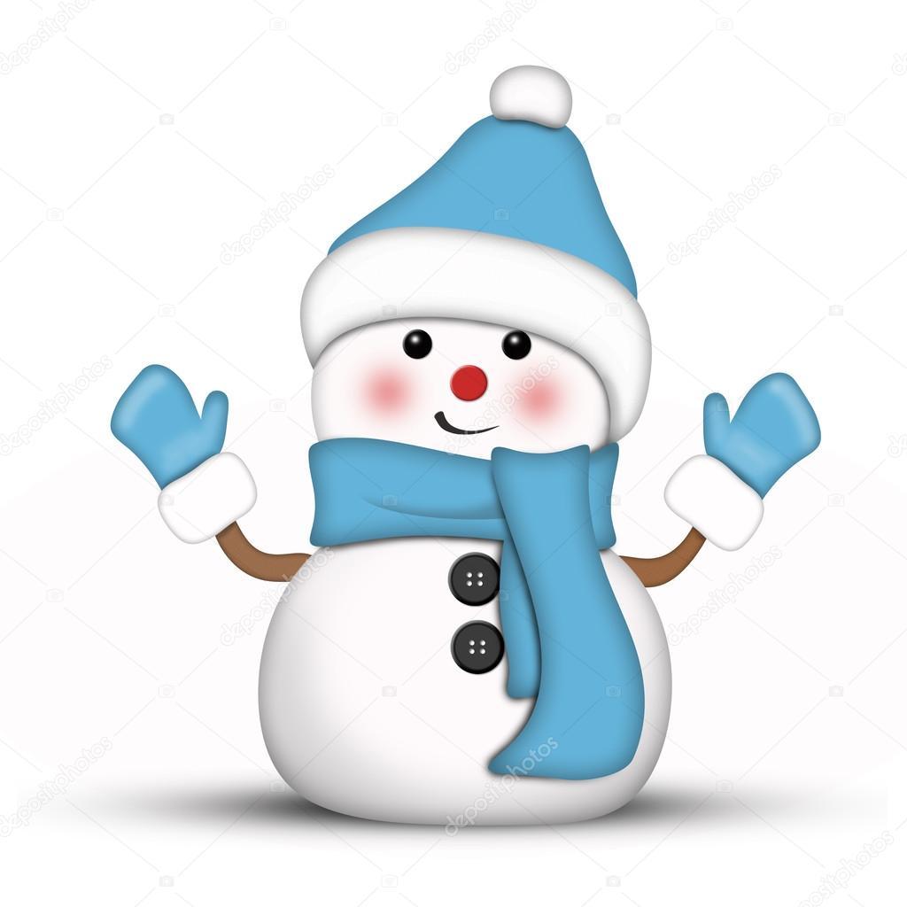 Illustration d 39 un bonhomme de neige amusante v tus de bue photographie lurin 58434667 - Clipart bonhomme de neige ...