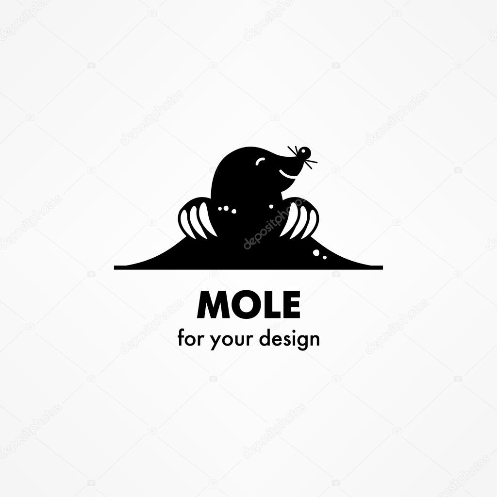 Cute cartoon mole