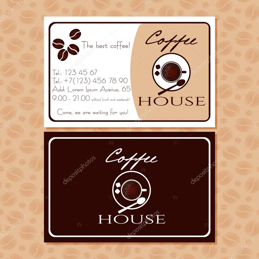Coffee business cards for your design