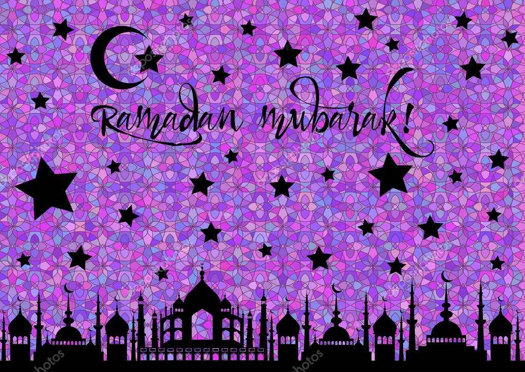 Karte für Begrüßung mit Beginn des Fastenmonats Ramadan ...