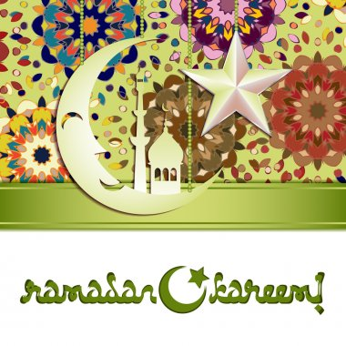 Card for greeting with Islamic feasts