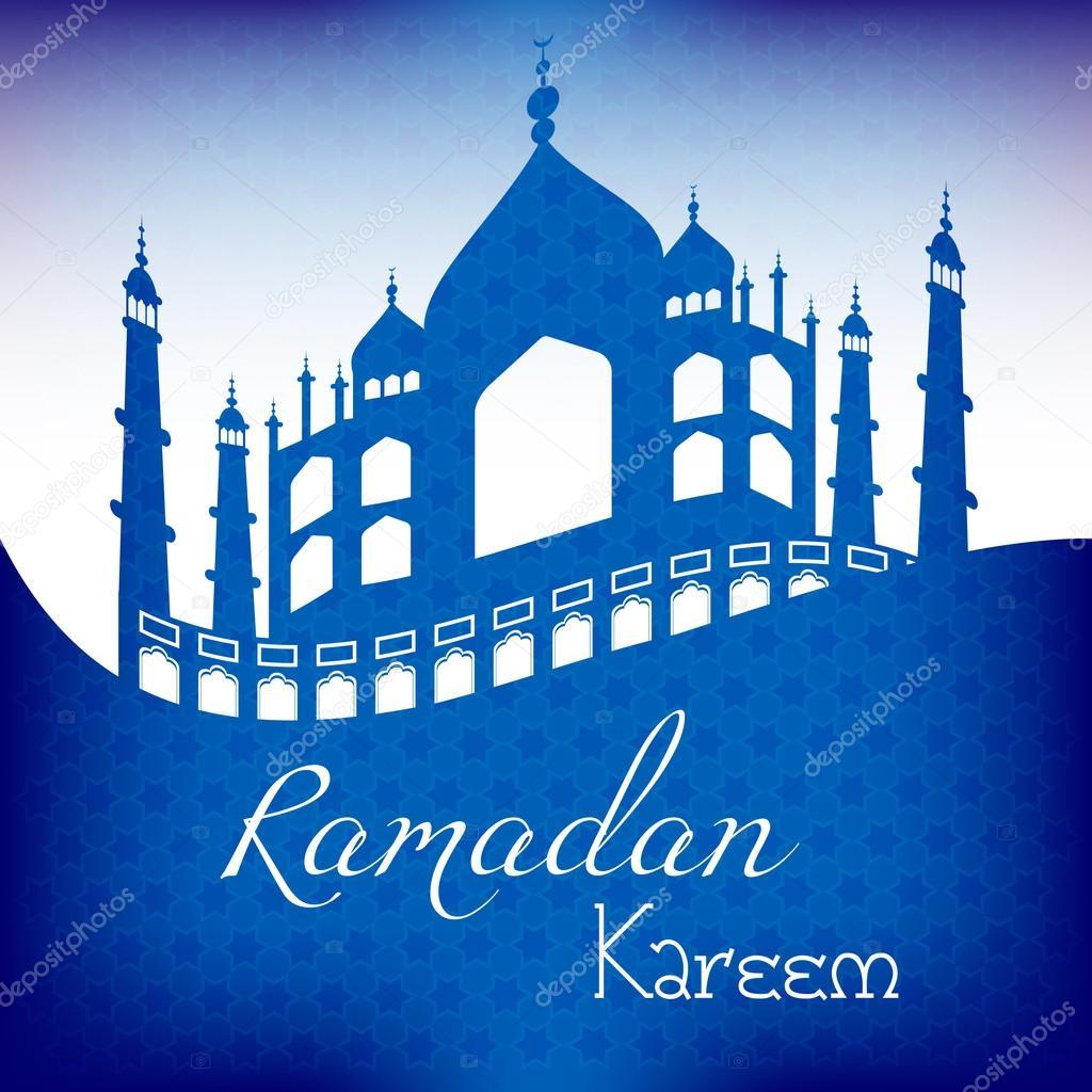 grattis på ramadan kort för Grattis med början av fastemånaden Ramadan — Stock Vektor  grattis på ramadan