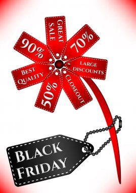 Card for day of Black Friday. Great sale, large discounts