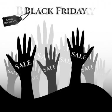 Poster for day of Black Friday. Great sale, large discounts