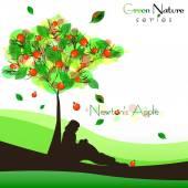 Fotografie abstrakte Natur Hintergrund mit fruchtbarem Baum. Newton-Apfel