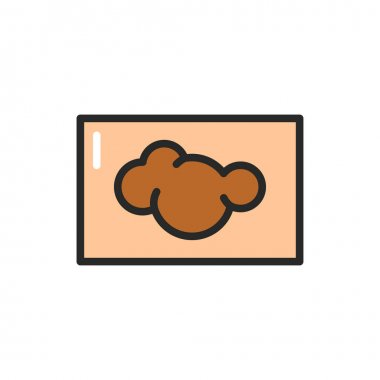 Skin cancer color line icon. Isolated vector element. Outline pictogram for web page, mobile app, promo icon