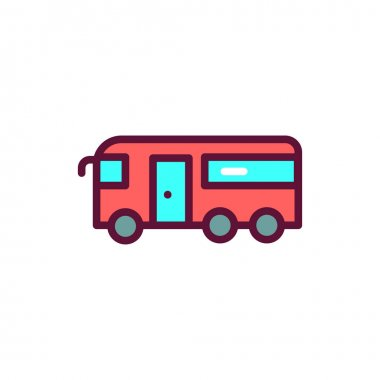 Public transport color line icon. Isolated vector element. Outline pictogram for web page, mobile app, promo icon