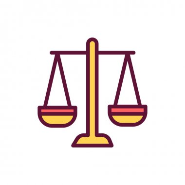 Law color line icon. Isolated vector element. Outline pictogram for web page, mobile app, promo icon
