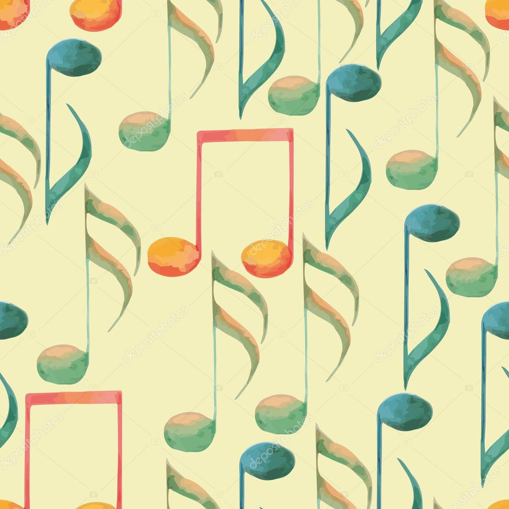 Most Inspiring Wallpaper Music Watercolor - depositphotos_66214653-stock-illustration-watercolor-music-pattern  Graphic_40853.jpg