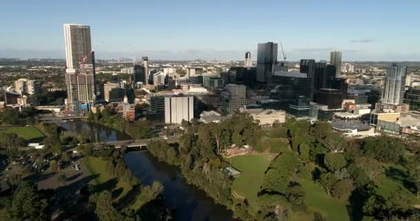 aerial view of beautiful city and nature