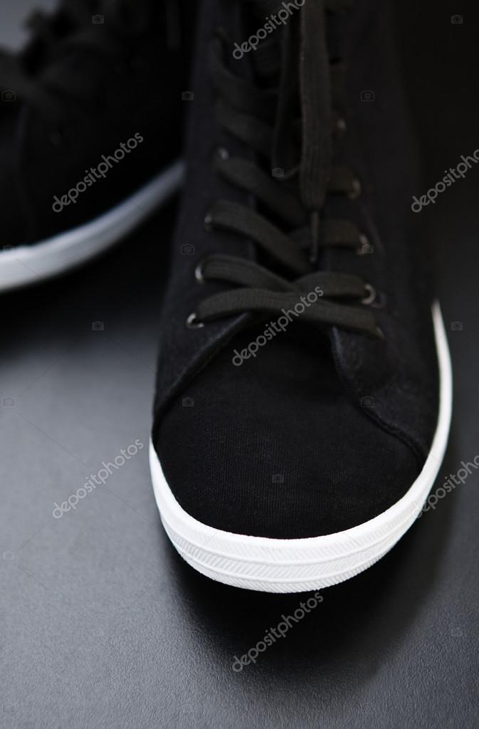 Chaussures Photographie Avec Blanche Sport Semelle Noirs De — XkZiPu