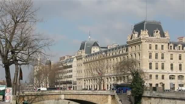 Pont Seinu v Paříži, francouzský panoráma