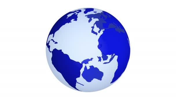 Planeta Země všech barev duhy rotačních izolovaných na bílém pozadí. 4k