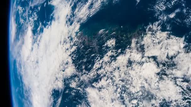 Planeta Země a hurikán z Iss. Prvky tohoto videa, které Nasa