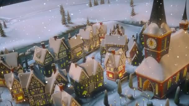 A Christmas Village 2021 Christmas And Happy New Year 2021 Animation View Of A Small Town Or Village On A Winter Night At Christmas Santa Claus Carries A Bag With Gifts Video By C Merlinus74